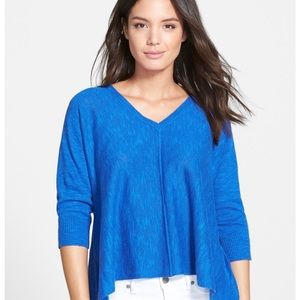 Eileen Fisher slub knit v neck